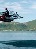 آزمایش ماشین پرنده آبی در کالیفرنیا
