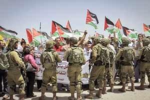 نظامیان رژیم صهیونیستی مانند سالهای گذشته به مقابله با تظاهرات فلسطینیها در سالگرد روز نکبت پرداخت