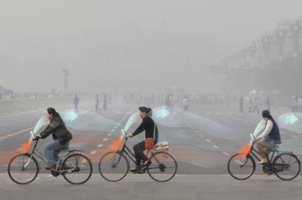 دوچرخهای با قابلیت پاکسازی هوا