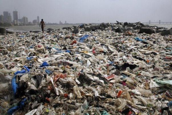 جمعآوری ۵ هزار تن زباله از ساحل هند