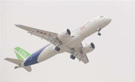 پرواز اولین هواپیمای مسافربری بزرگ ساخت چین