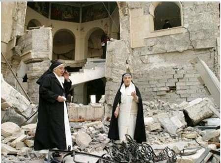 داعش ۱۴ کلیسای مسیحیان را با خاک یکسان کرده است