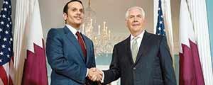 وزیر خارجه آمریکا در دیداربا  همتای قطری خود با وجود امتناع عربستان خواستار مذاکره شده است.
