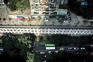 خیابانی روی طبقه پنجم ساختمان