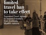 بخشی از فرمان ترامپ برای محدودیت سفر به آمریکا اجرا میشود