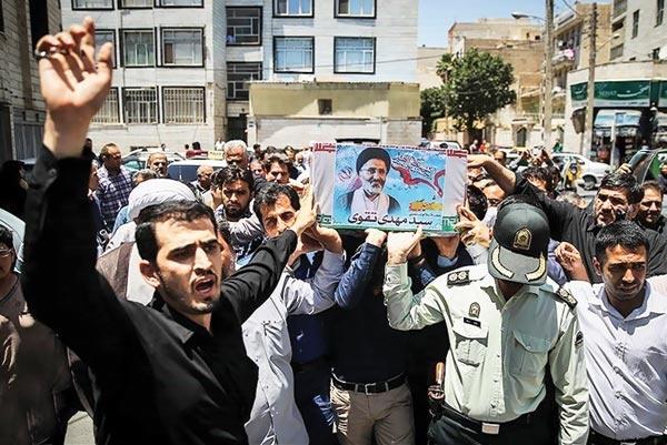 تشییع جنازه شهید تقوی