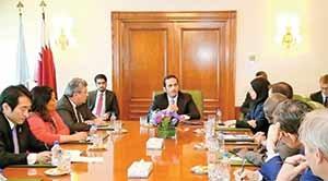 وزیر امور خارجه قطر اعضای شورای امنیت را در جریان آخرین تحولات بحران اخیر قرار داد.