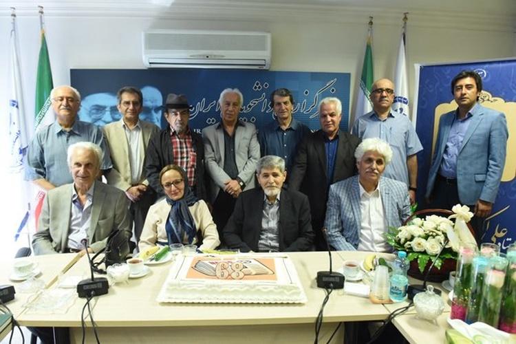 جشن تولد علیاکبر قاضیزاده در ایسنا برگزار شد