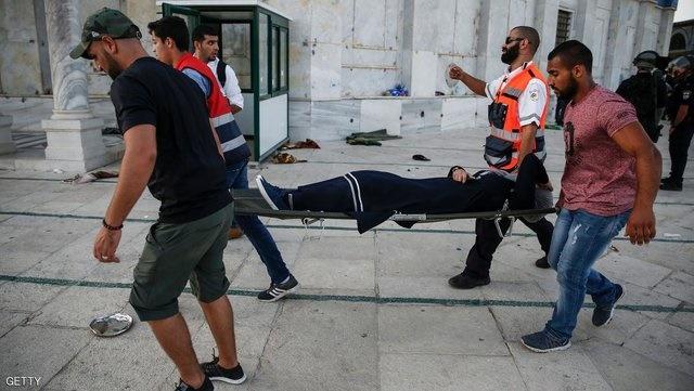 تشدید درگیریها در مسجدالاقصی و زخمی شدن دهها تن