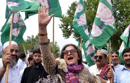 تظاهرات حامیان نواز شریف در شهرهای مختلف پاکستان