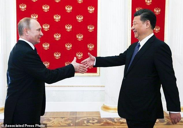 دیدار رهبران روسیه و چین در مسکو