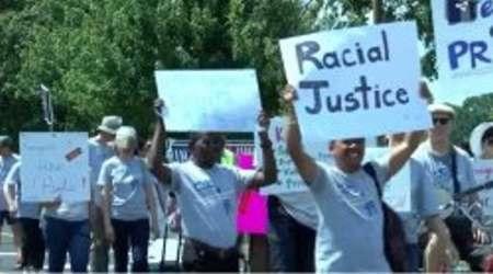 راهپیمایی در سالروز استقلال آمریکا برای اعتراض به سیاست ضد مهاجرتی ترامپ
