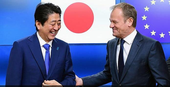 پاسخ تاریخی ژاپن و اتحادیه اروپا به ترامپ