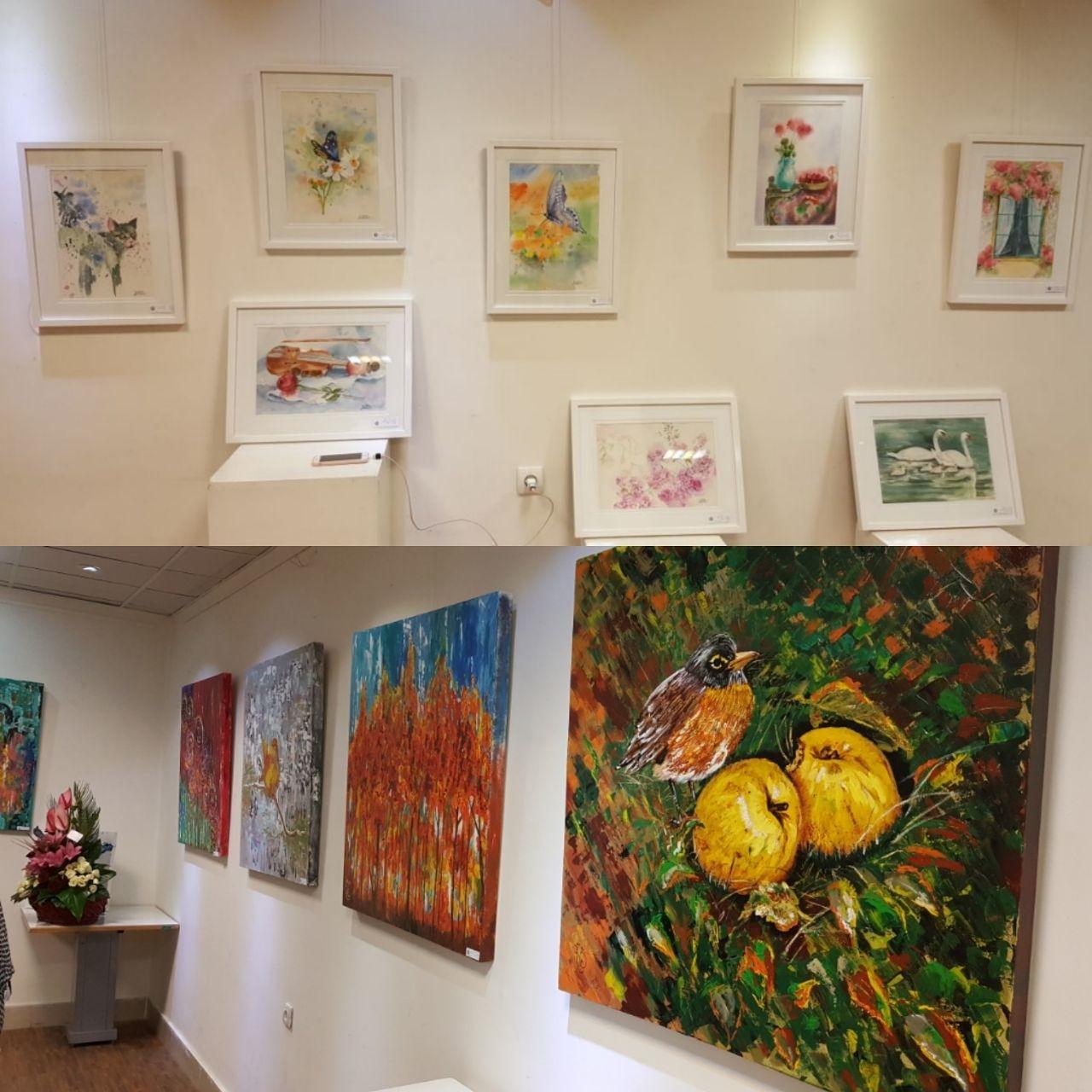 افتتاح نمایشگاه نقاشی اکرلیک و آبرنگ