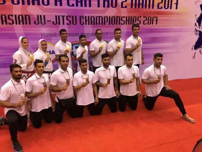 درخشش تیم جوجتسوی کشورمان با ۲۰ مدال رنگارنگ در قاره آسیا