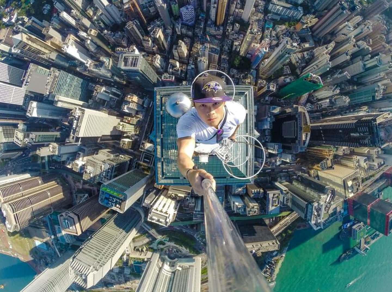 عکس روز: سلفی در راس آسمانخراش