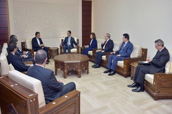 معاون وزیر خارجه ایران با بشار اسد در دمشق دیدار کرد