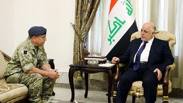 العبادی؛ تماس تلفنی با تیلرسون ؛ دیدار با رئیس ستاد ارتش انگلیس
