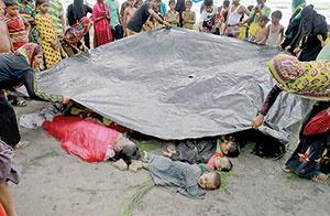 پناه به مرگ، از ترس قتل عام در میانمار