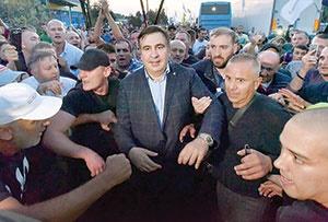 رئیسجمهور سابق گرجستان، به زور وارد اوکراین شد
