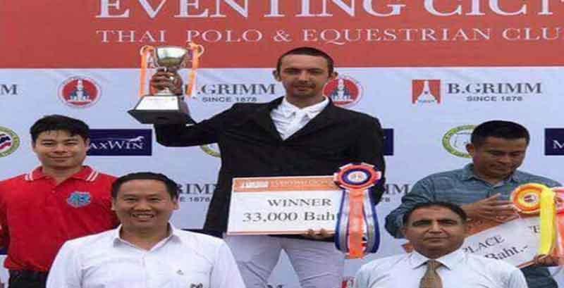 طوفان ترابی قهرمان مسابقات سوارکاری تایلند شد