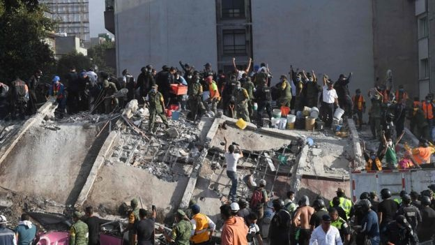 وقوع زلزله ۷.۱ ریشتری در مکزیک