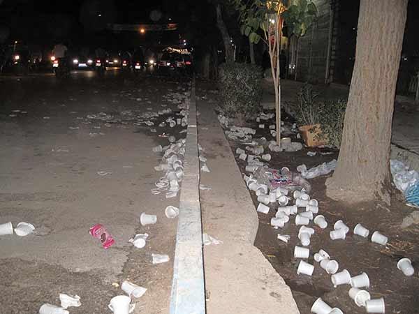 درخواست از عزاداران حسینی  برای حذف ظروف پلاستیکی یکبار مصرف