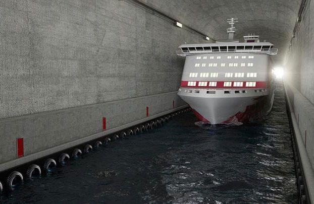 نروژ برای کشتیها تونل میسازد