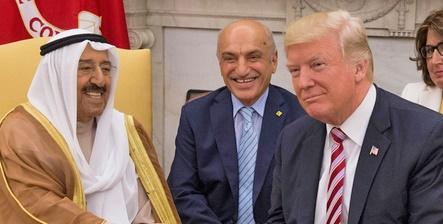 گزارش کنفرانس خبری ترامپ و امیر کویت