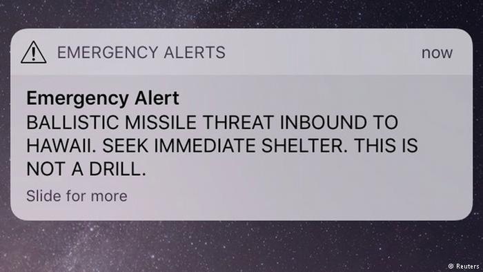 فشار دکمه اشتباهی برای هشدار موشکی، مردم هاوایی را به وحشت انداخت