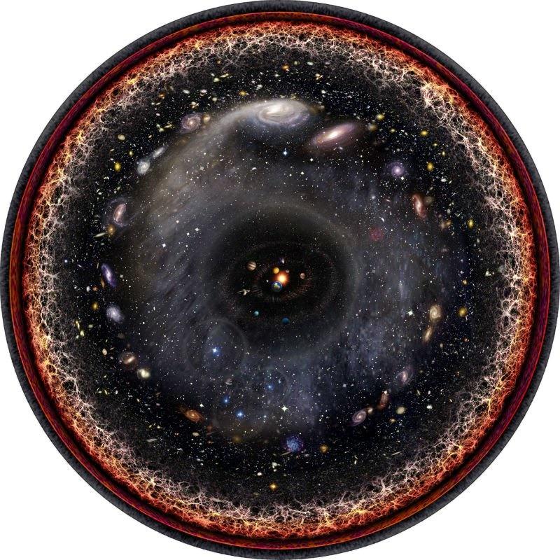 نجوم,بيگ بنگ,ناسا,اينجا,فضا,كهكشان راه شيري,كهكشان اندرومدا
