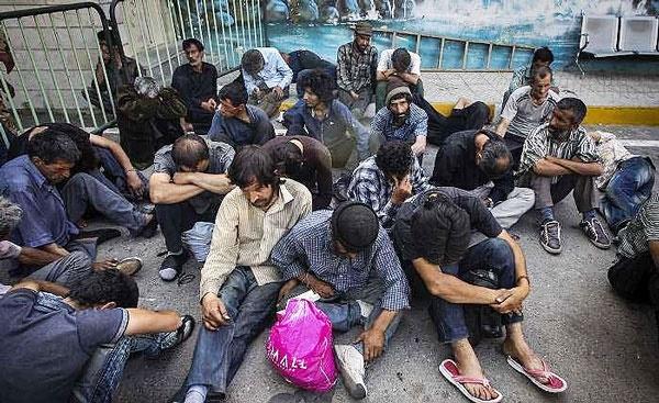معتادان متجاهر تهران؛ میانگین سن ۳۱ سال   ۵۷ درصد مهاجر