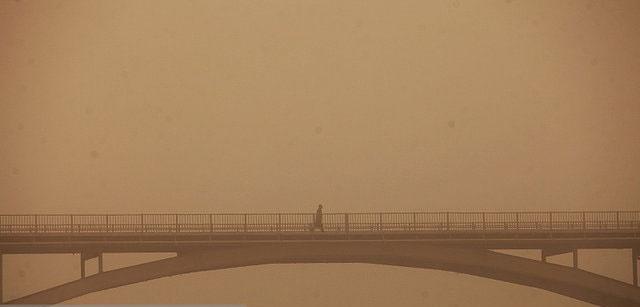 انتقال توده گرد و غبار عراق به ایران گرد و غبار