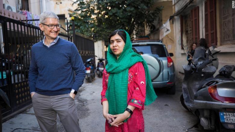 همکاری اپل با جوانترین برنده نوبل صلح برای کمک به دختران جهان