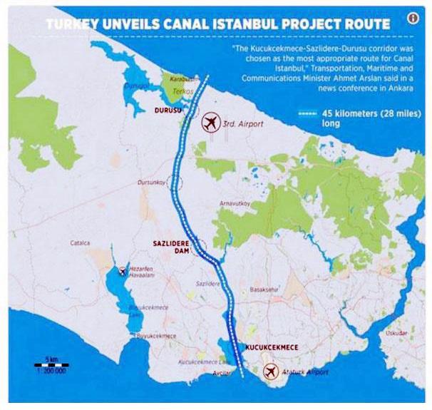 ترکیه در صدد احداث کانال استانبول به عنوان تنگه بسفر دوم