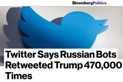 بلومبرگ: روباتهای روسی توئیتهای ترامپ را ۴۷۰هزار بار بازنشر کردند