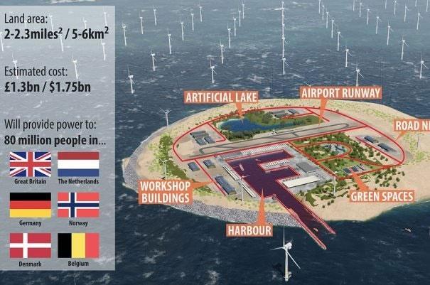 اروپا برای تامین برق جزیره مصنوعی میسازد