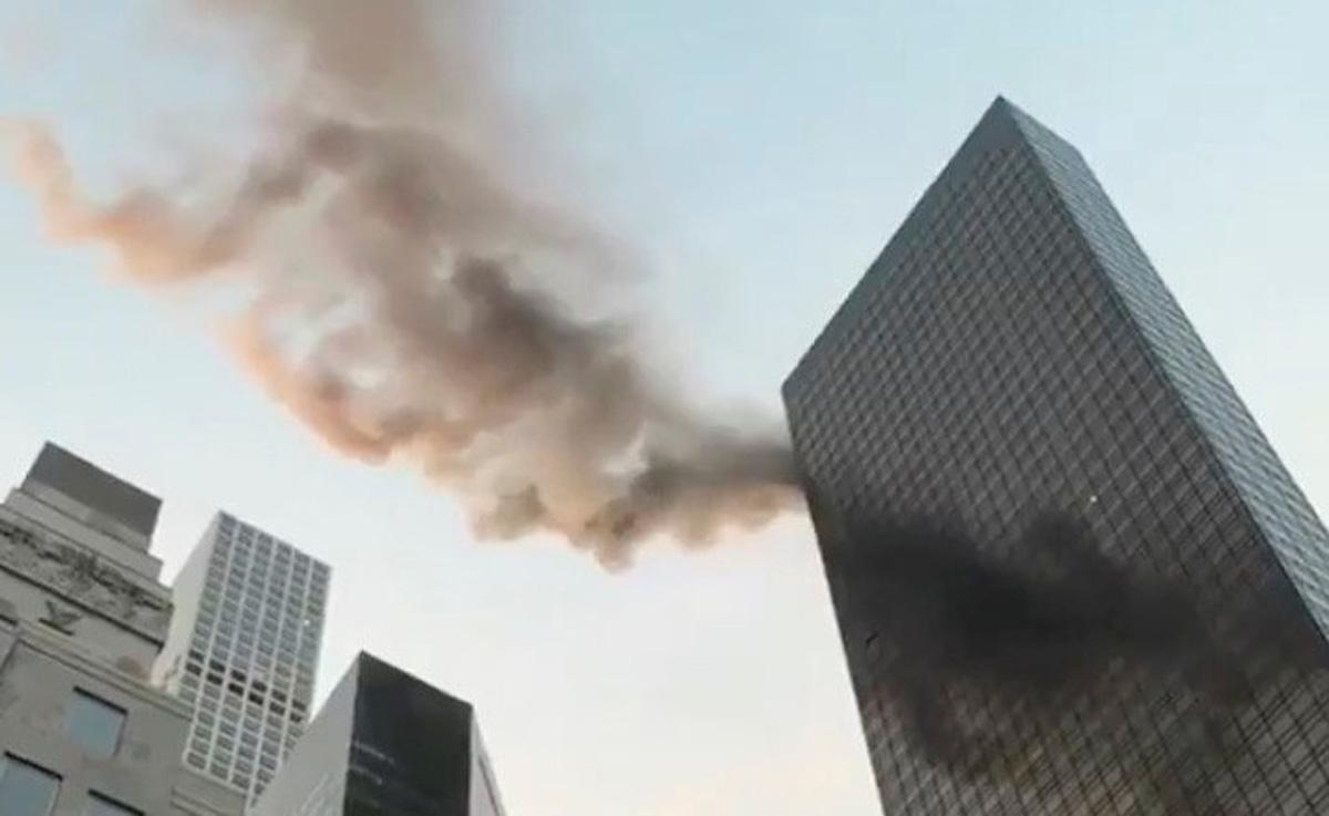 برج تجاری ترامپ در منهتن آتش گرفت