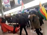 دعوای کردها و ترکها در فرودگاه هانوفر آلمان بر سر عفرین