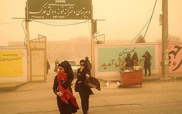 انتقال توده گرد و غبار عراق به ایران