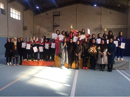 قهرمانی تیم ضربان تهران در مسابقات ایروبیک ژیمناستیک دختران باشگاه های کشور