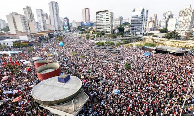 تظاهرات گسترده علیه نامزد انتخابات ریاست جمهوری برزیل