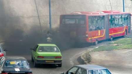 اتوبوسها معاینه فنی میگیرند اما دود میکنند