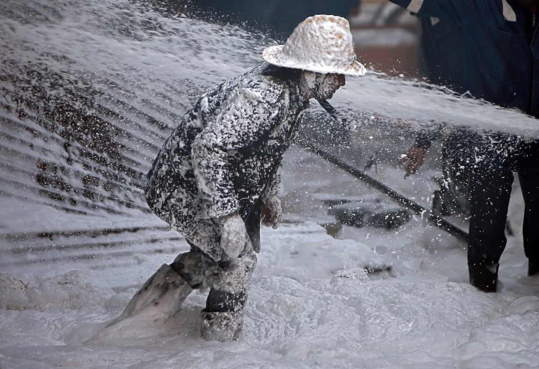 عکس روز: آتشنشان کفآلود