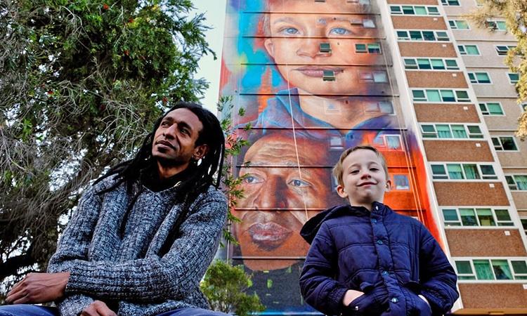 رونمایی از بلندترین نقاشی دیواری نیمکره جنوبی زمین در ملبورن