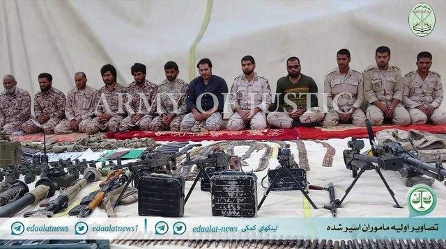 """اولین تصاویر ادعایی """"جیش العدل"""" از نیروهای ربوده شده در میرجاوه"""