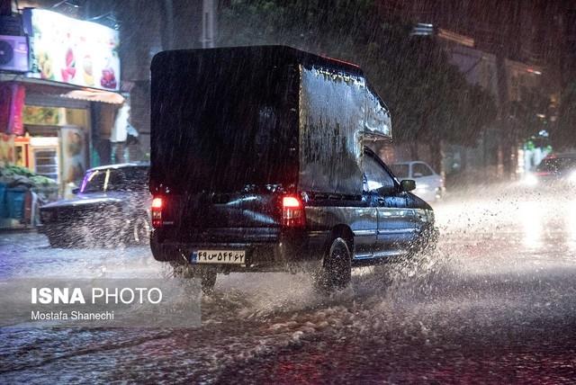 وضعیت بارش باران در نوشهر و چالوس