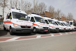 ۲۲۰ آمبولانس برای تهران ۱۴ میلیون نفری