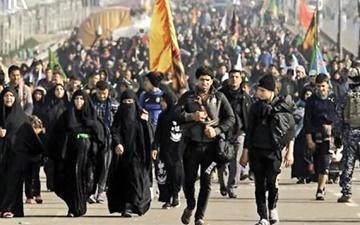 کاروان ۴۰ هزار نفری زائران اربعین به سمت کربلا حرکت کرد