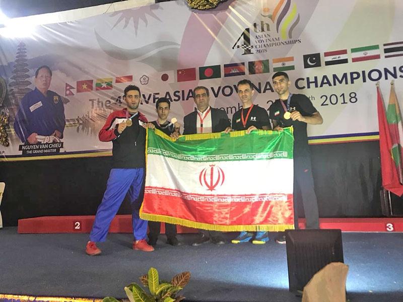 کسب ۳ مدال از مسابقات ووینام قهرمانی آسیا